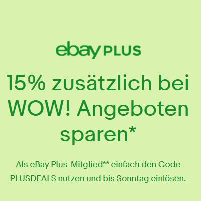 Ebay WOW 15% Deal Schnäppchen