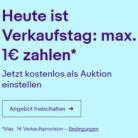 Ebay Verkaufstag: Nur 1€ Verkaufsprovision